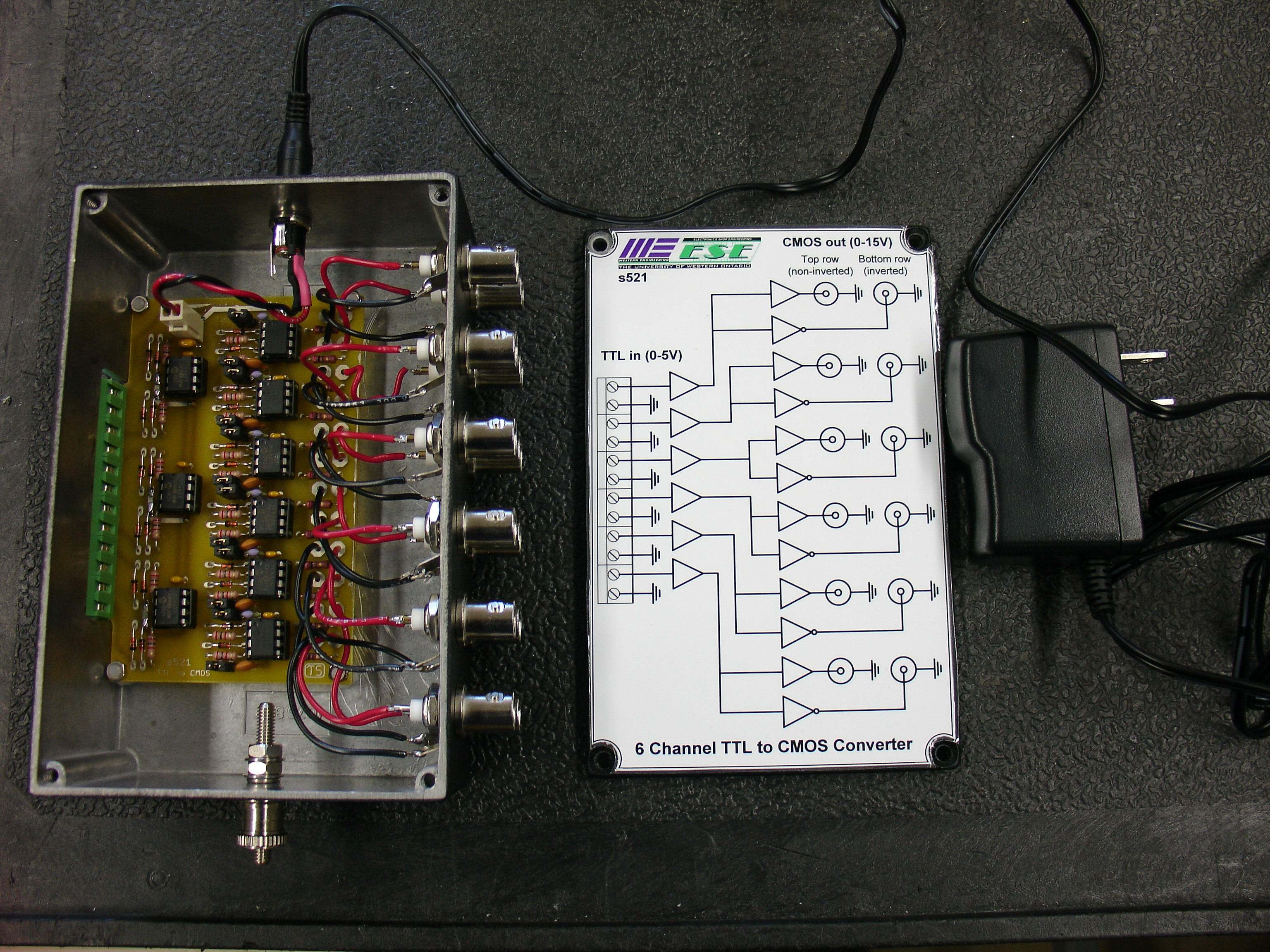 Electronics Shop Projects Electrical And Computer Engineering Ttl To Cmos Box