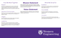Western Engineering Mission and Values Poster
