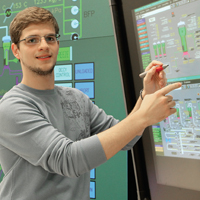 Student in Electrical Lab